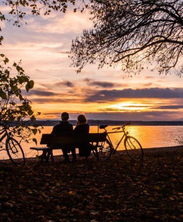 Fahrrad Bodensee Sonnenuntergang